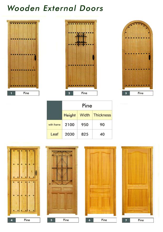 Wooden doors and windows.