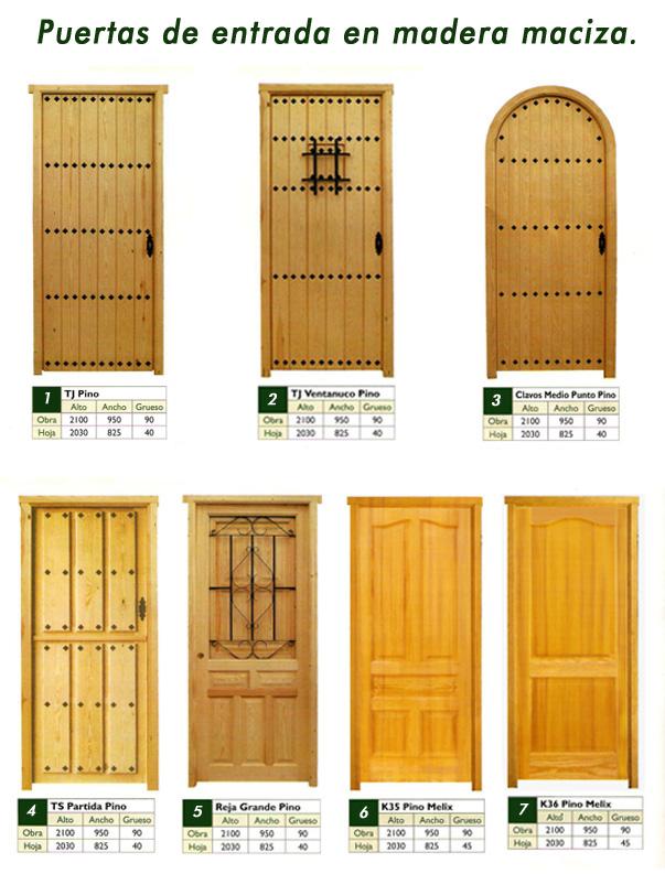 Puertas y ventanas de madera con marco y accesorios for Puertas de entrada de madera maciza