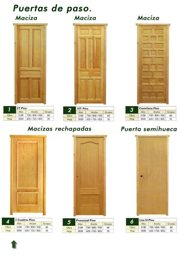 Puertas y ventanas de madera con marco y accesorios for Puertas de paso blancas