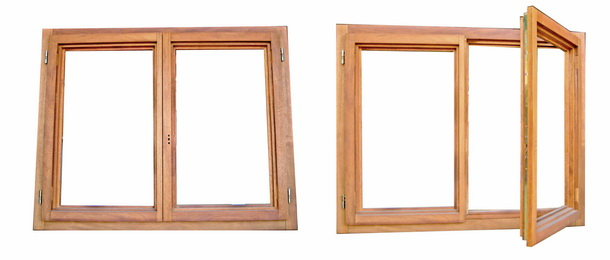 Puertas y ventanas de madera con marco y accesorios for Fabrica de aberturas de madera